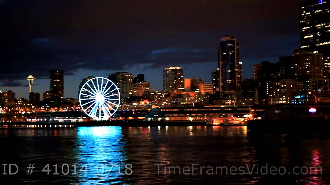 Pictures of seattle at night