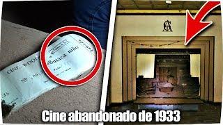 ✔ Visitando CINE ABANDONADO de 1933 *de noche* ! - Exploracion Urbana Lugares Abandonados en España