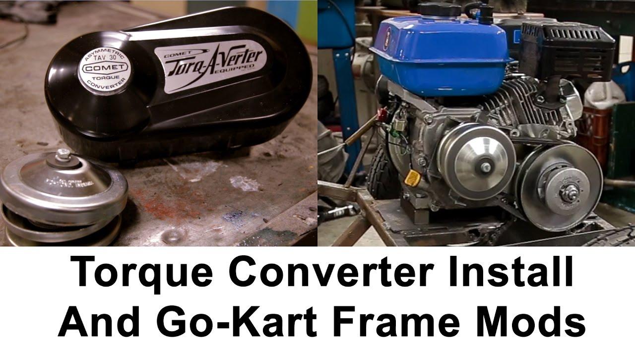 Installing A TORQUE CONVERTER - Go Kart build