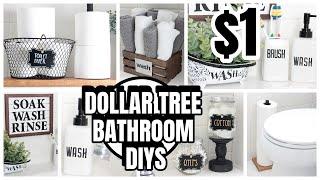 DOLLAR TREE BATHROOM DIYS DECOR AND ORGANIZATION