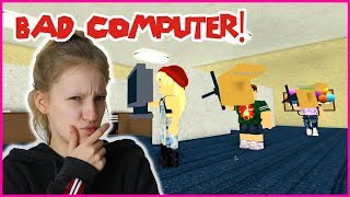 HITTING PEOPLE WITH A COMPUTER!