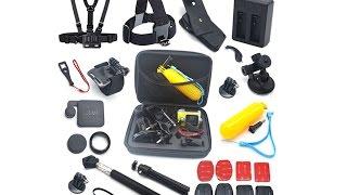 Кейс и аксессуары для экшен камеры sjcam  sj5000 plus sj4000  Крепления на грудь голову шлем руль