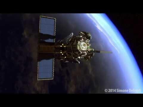 Animazione 3D Satellite attacca la Terra - Modellazione, Rig, Rendering
