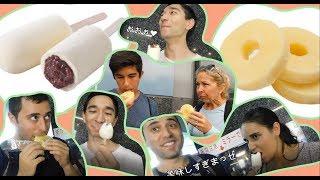 外国人がアイス饅頭とアイスキャンデーに感激!Foreign people trying Japanese ice cream