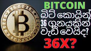 බිට් කොයින් 36 ගුනයකින් වැඩි වෙයිද? Will Bit Coin Increase 36 Times?