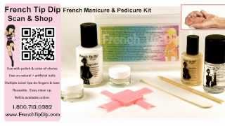 French Tip Dip French Manicure & Pedicure Kit
