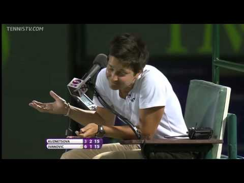 Kuznetsova gets a verbal obscenity for not actually swearing  Sony Open 2013)