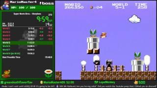 Personal Best Speedrun - Super Mario Bros., Warpless, 19:43 (4/30/17)