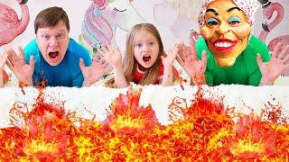 Пол это лава от Милли - the floor is lava | Забавная история для детей