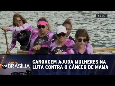 Canoagem para mulheres que venceram o câncer de mama