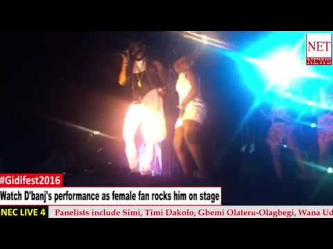 #Gidifest2016 - Watch D'banj's performance as female fan rocks him on stage