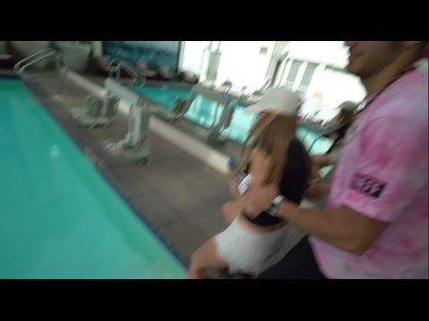 How to push people in a swimming pool, (in style) - YouTube