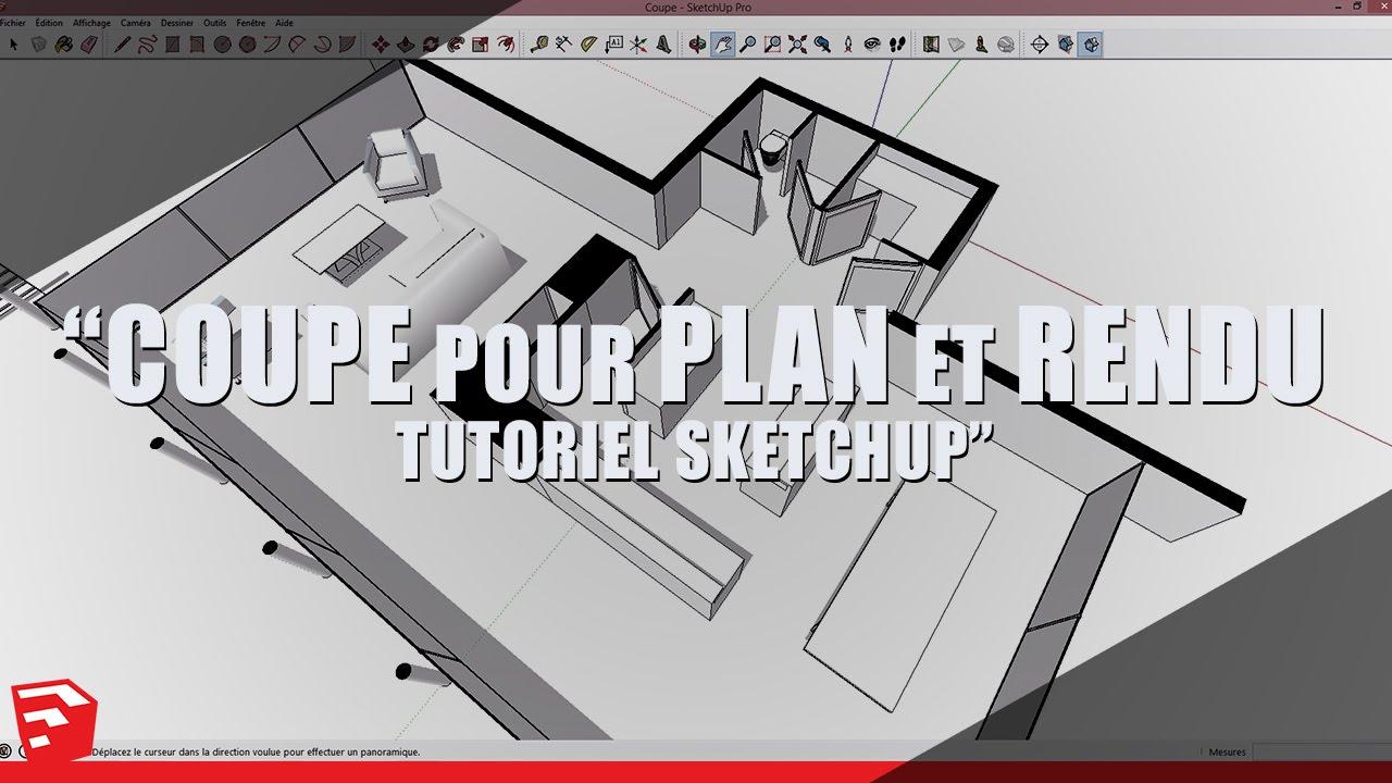 sketchup tutorial section for plan and render youtube - Plan Maison Sketchup Gratuit