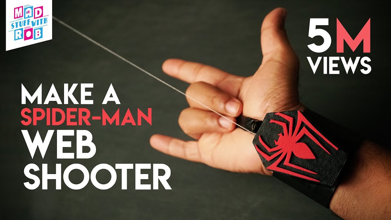 How to Make a SPIDER-MAN WEB SHOOTER at home | IN HINDI | Marvel Fan