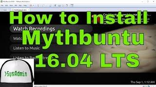 How to Install Mythbuntu 16.04 LTS (Xenial Xerus) + VMware Tools on VMware Workstation Tutorial [HD]