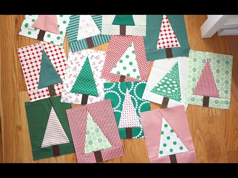 Patchwork Forest Tree Quilt Block Video Tutorial By Amy Smart Of Diary Of A Quilter