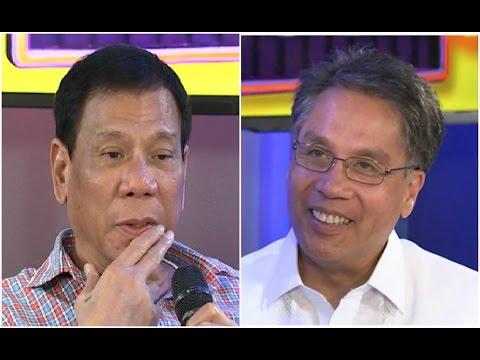 Duterte, Roxas, muling nagkainitan