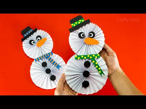 How to make a Paper Snowman ⛄ Christmas Tree Decoration Ideas | DIY Christmas Crafts ⛄⛄