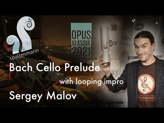 Sergey Malov plays Bach Prelude for Cello at Opus Classic Award