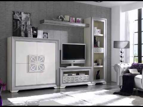 Muebles de salon con mesas y estantes youtube for Catalogo de salones