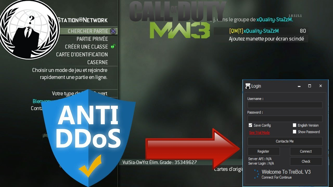 [MW3/PS3] IP GRABBER + SPOOF IP'S & XUID | HOW TO HIDE HIS IP / DON'T BE  DDOS [WORK] by StaZz & Comet - Modding