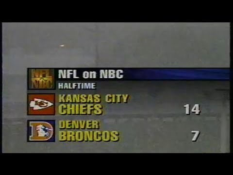 1995 NFL Football: Chiefs (6-1) @ Broncos (4-3)