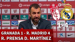 GRANADA 1 vs REAL MADRID 4 | DIEGO MARTÍNEZ, rueda de prensa | DIARIO AS