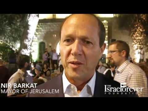 Mayor Of Jerusalem, Nir Barkat, At Open House Jerusalem