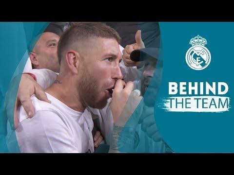 SERGIO RAMOS singing and TEAM CELEBRATION | Real Madrid 2 - 2 Bayern Munich
