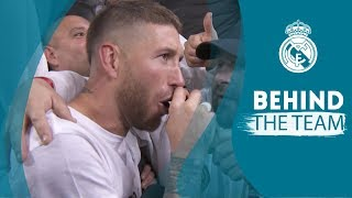 SERGIO RAMOS singing and TEAM CELEBRATION | Real Madrid 2 - 2 Bayern Munich