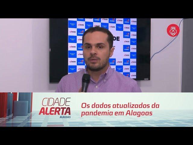 Os dados atualizados da pandemia em Alagoas