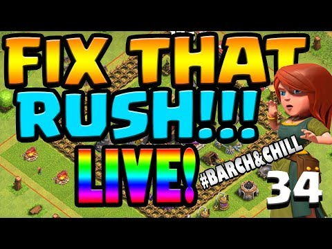 LIVE WALL FARMING Let's FIX THAT RUSH!! ep34 | Clash of Clans