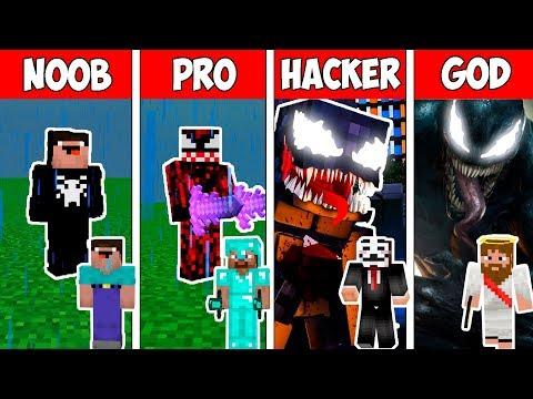 Minecraft NOOB vs PRO vs HACKER vs GOD : VENOM in Minecraft ! AVM SHORTS Animation