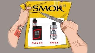 первый взгляд SMOK TFV12 и SMOK AL85 kit