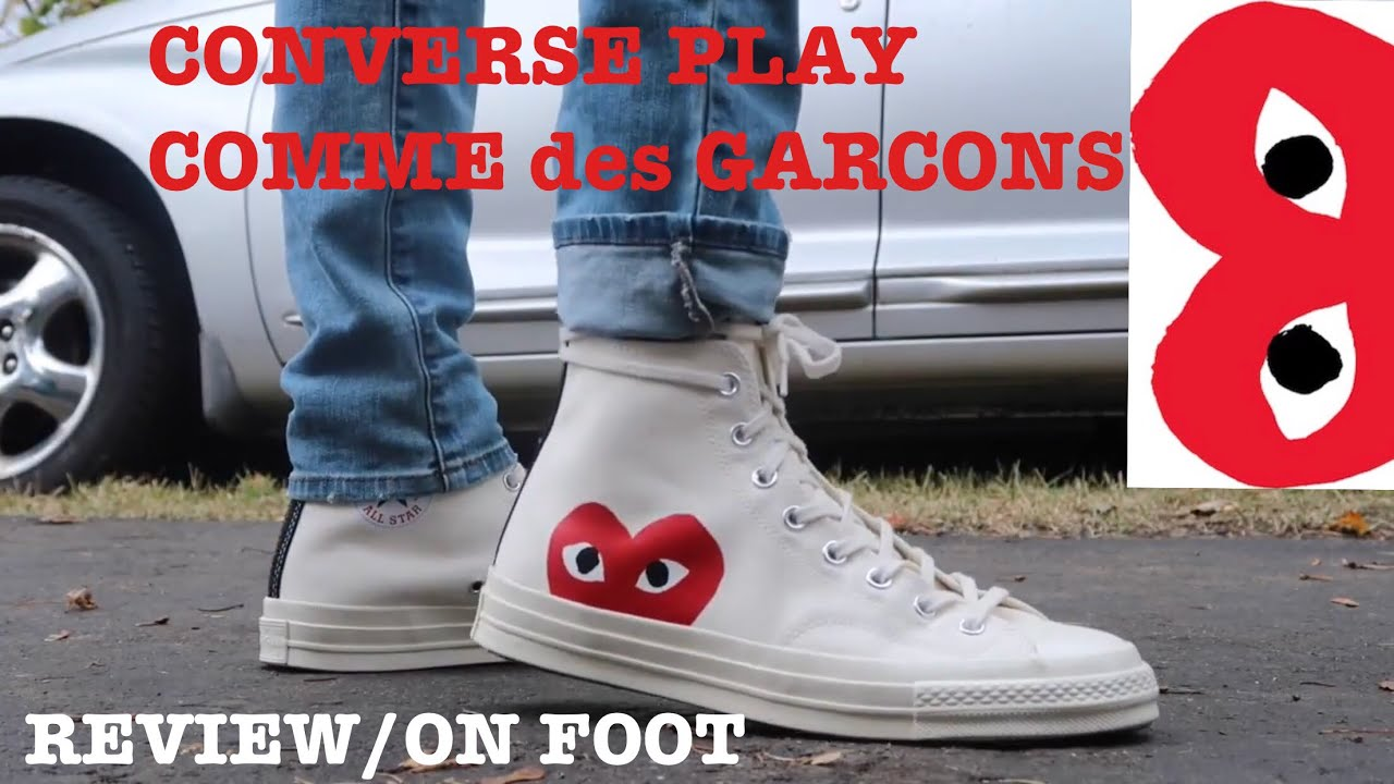 0bb1e503d63a CONVERSE PLAY COMME des GARCONS REVIEW ON FOOT!!! - YouTube