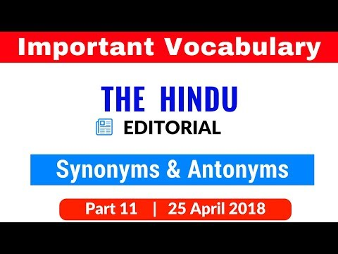 Important Vocabulary from The Hindu Editorial for SBI PO | CLERK | IBPS PO | CLERK | SSC Part 11