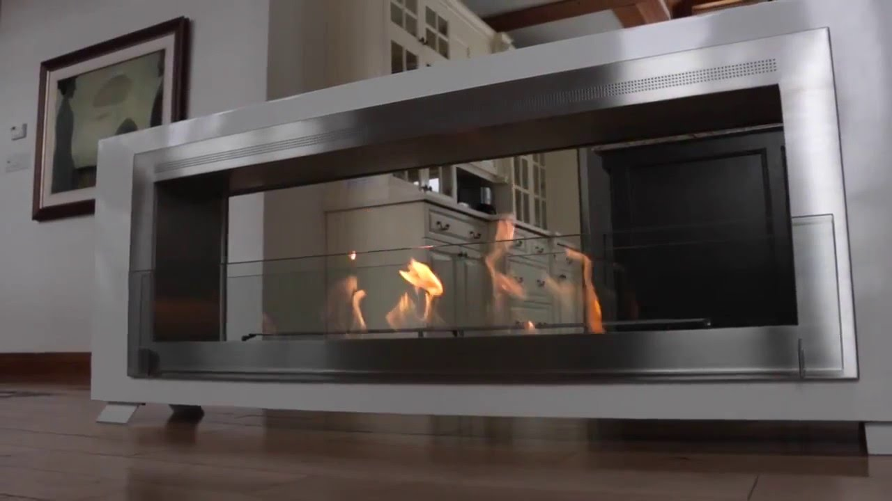 santa cruz 2 sided ethanol fireplace by eco feu youtube