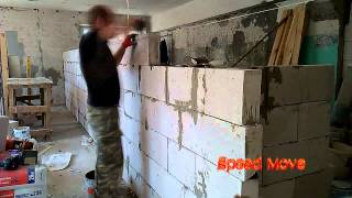 Ускоренное видео кладки перегородка из пеноблоков/Foam Brick Masonry Techniques for Builders(Использована музыка Broke For Free - Calm The Fuck Down From http://brokeforfree.bandcamp.com/album/slam-funk: Slam Funk spans many genre's but is ..., 2015-07-13T10:19:52.000Z)