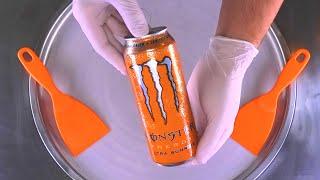 Ice Cream Rolls | how to make Monster Energy Drink rolled Ice Cream / Fried Ice Cream | Food ASMR