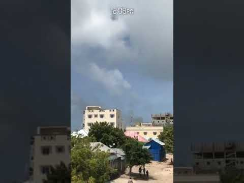 Smoke coming from the ministry of interior near sayidka junction  #Mogadishu
