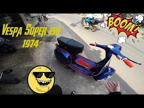 Motovlog - Test Ride Vespa Super 1974