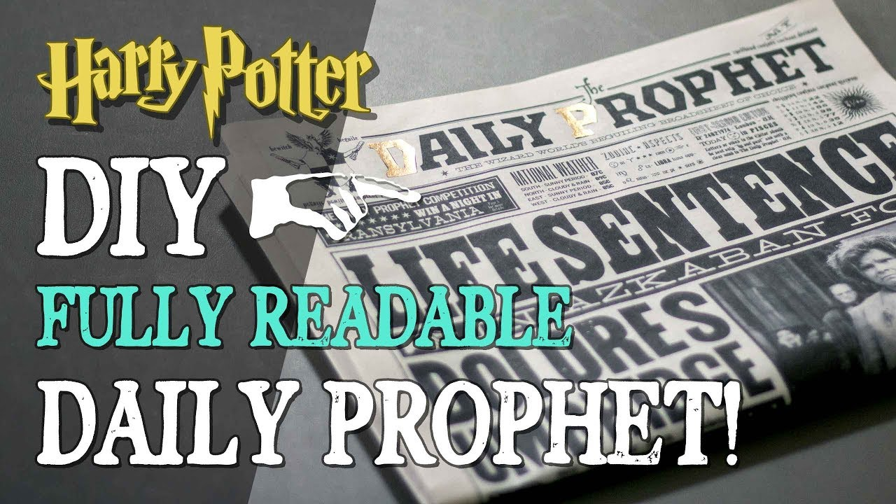 graphic relating to Daily Prophet Printable identify Do-it-yourself Day by day Prophet - Totally Readable Newspaper