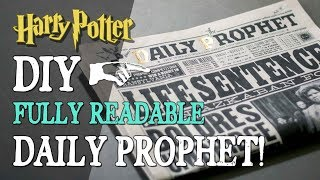 Diy Daily Prophet - Fully Readable Newspaper
