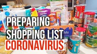 CORONAVIRUS SELF ISOLATION SHOPPING LIST// Get prepared with shopping supplies/ Preparedness shop