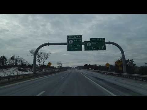 Driving on I-81 from Hazleton to Foster Township,Pennsylvania