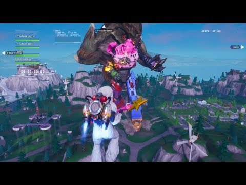 Fortnite Full Monster Vs Robot Fight Event Live! Season 9 Event