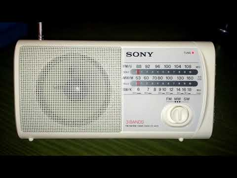 Radio Romania Int & Voice of Turkey on shortwave with Sony ICF-403S