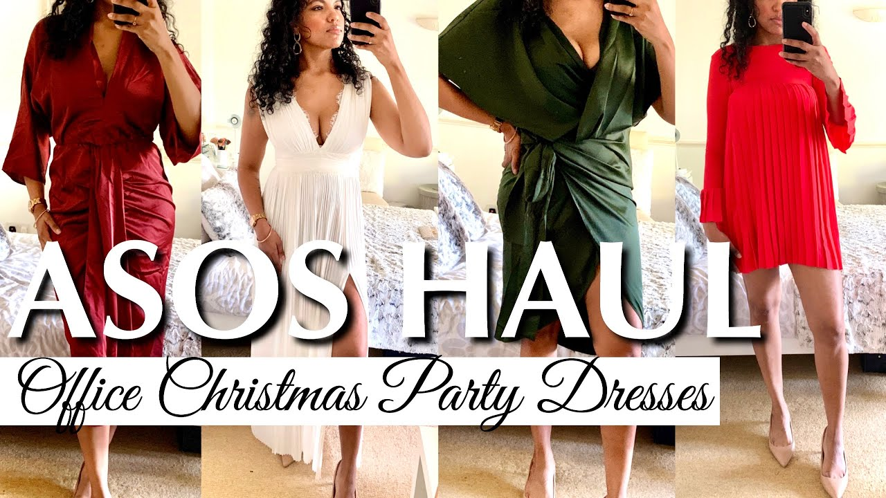 Asos Haul Try On Dresses Office Christmas Party Dress Layonie Jae Youtube