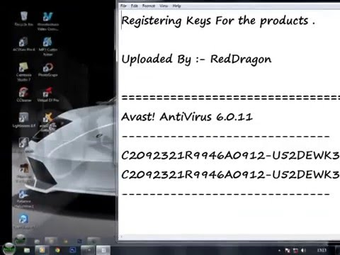 Free Avast Antivirus Full Version Registration Key ! - YouTube
