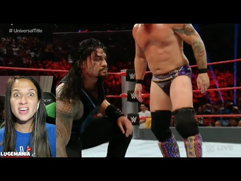 WWE Raw 8/22/16 Roman Reigns vs Jericho